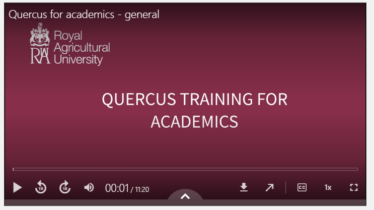 Quercus for academics